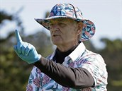 Bill Murray na golfovém turnaji v Pebble Beach.