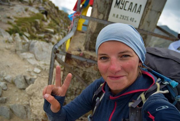 Vrcholový snímek z nejvyššího balkánského vrcholu Musala.