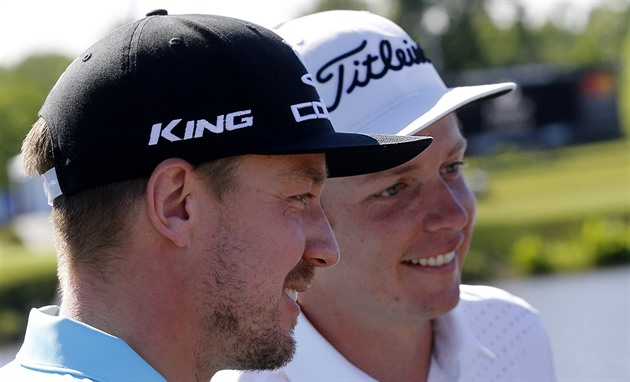 Jonas Blixt (vlevo) a Cameron Smith.
