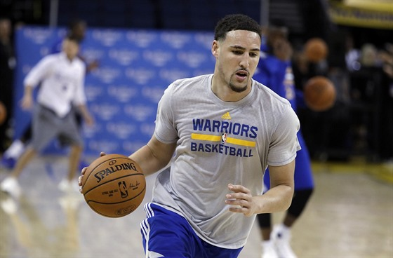 Klay Thompson na tréninku Golden State