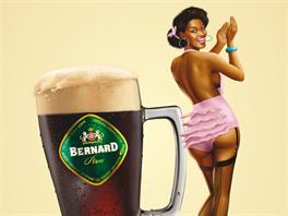 Kampaň pivovaru Bernard. Pin-up dívky propagují pivní speciály. Jejich...
