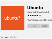 Ubuntu je ve Windows Store