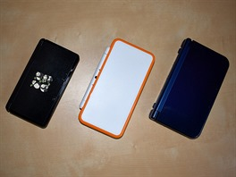 Zleva: 3DS, New 2DS XL, New 3DS XL