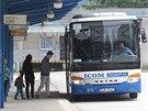Na humpolecké autobusové nádraží budou lidé ještě nějaký čas chodit. Výstavba...