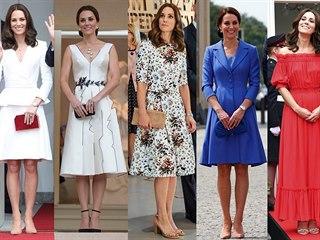 OBRAZEM: Národní barvy, značky a elegance. Šatník Kate v Polsku a Německu