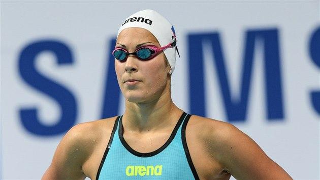 Lucie Svěcená v rozplavbě na 50 metrů motılek.