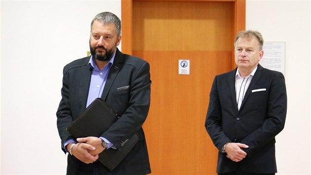 Poslanec Pavel Růžička (vlevo) a starosta Postoloprt Zdeněk Pištora.