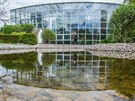 Pavilon tropických rostlin v botanické zahradě léčivých rostlin Farmaceutické...