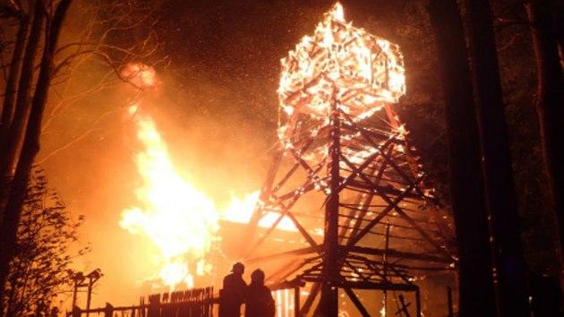 Svatostánek byl nejstarším dochovanım dřevěnım kostelem na Těšínsku, nedávno před požárem prošel nákladnou rekonstrukcí.
