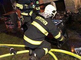b28d294979d Zásah hasičů u požáru v obchodě s taneční obuví v Olomouci v Rooseveltově.