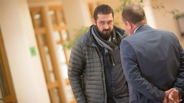 Roman Čechmánek u zlínského soudu. (únor 2018)