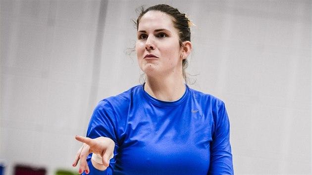 Romana Hejdová na tréninku české reprezentace