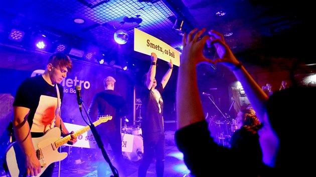 Kapela Mirai hrála 21. března 2018 v brněnském Metro Music Baru.
