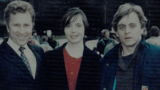 Stanislav si zahrál i ve filmu Bílé noci. Na fotografii z filmu je vlevo, uprostřed je herečka Isabella Rossellini a vpravo Michail Baryšnikov. Fotku má Stanislav zarámovanou na zdi..