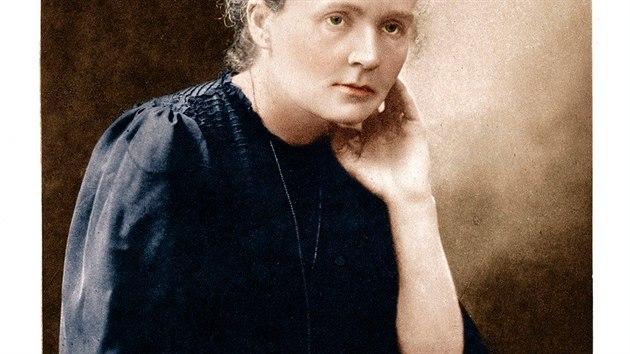 Dobovı portrét Marie Curie s vlastnoručním podpisem