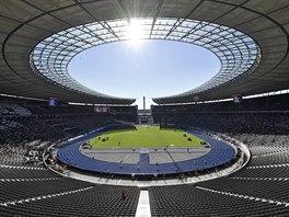 Stadion v Berlíně během atletického mistrovství Evropy.
