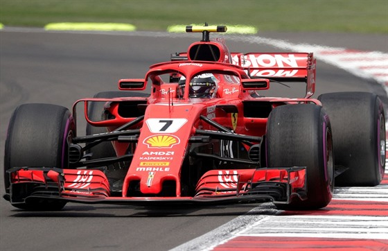 Kimi Raikkonen of Ferrari remains on the Grand Prix of Mexico.