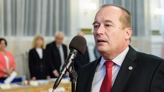 Alexandr Hrabálek na hradeckém zastupitelstvu (30. 10. 2018).