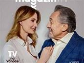 Ivan and Karel Gott on Cover of Magazine DNES (November 29, 2018)