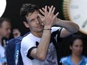 Tomáš Berdych se loučí s Australian Open v osmifinále.