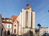 Kostel Obětování Panny Marie v Českıch Budějovicích.