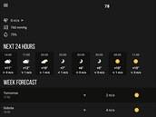 Aplikace MeMeteo slibuje přesnou předpověď počasí.