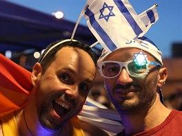 Fanoušci v Tel Avivu čekají, jak dopadne finále Eurovize 2019.