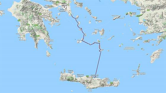 Trasa expedice Monoxylon