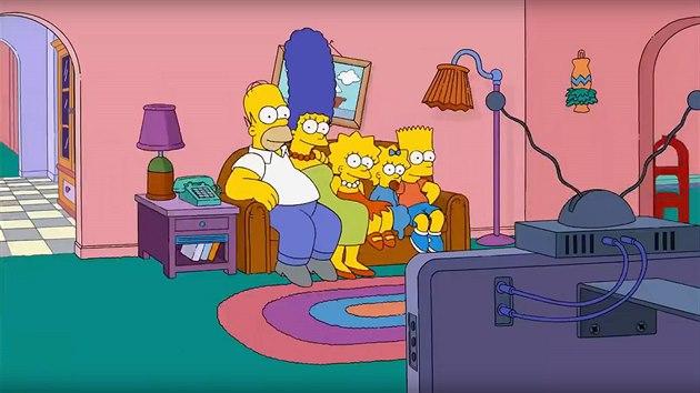 Obıvací pokoj ze seriálu Simpsonovi