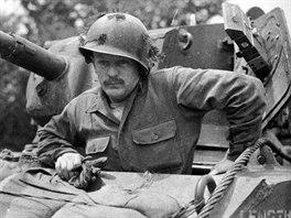 Seržant Culin, řidič lehkého tanku M5 Stuart