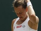 Zklamání Barbory Strıcové ve čtvrtfinále Wimbledonu.