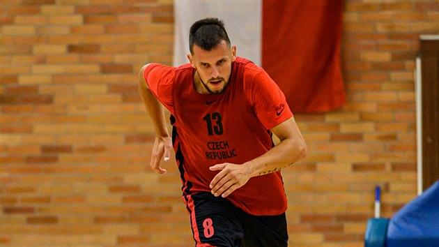 Jakub Šiřina během tréninku basketbalové reprezentace