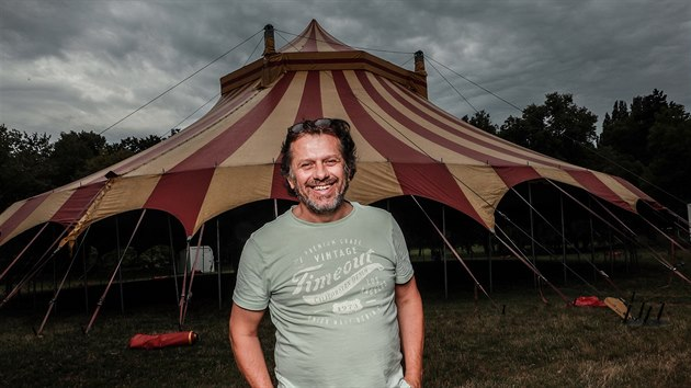 Ředitel a zakladatel festivalu Letní Letná Jiří Turek (5. srpna 2019)