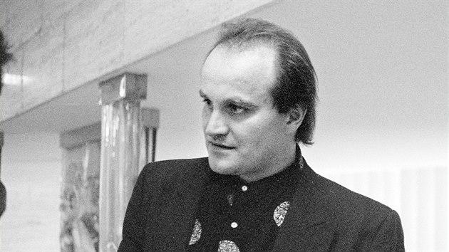 Michael Kocáb před jednáním Federálního shromáždění