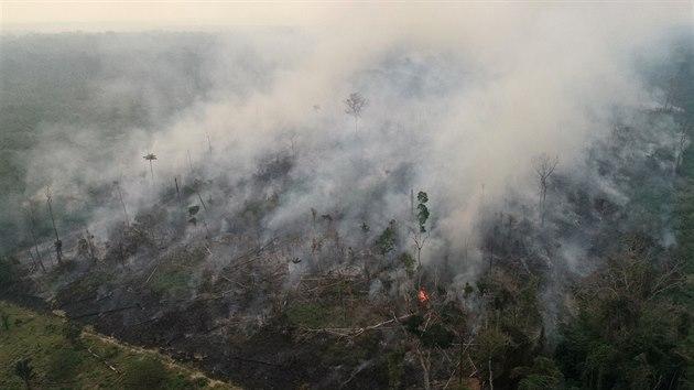 V amazonském deštném pralese zuří požáry (26. srpna 2019)