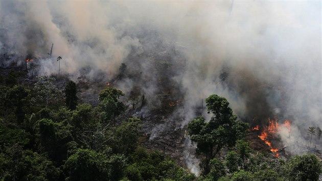 Požáry v amazonském pralese. (23. září 2013)