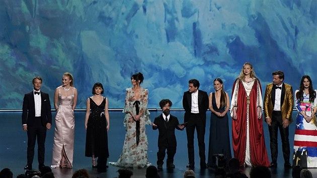 Herci Hry o trůny na udílení cen Emmy 2019.