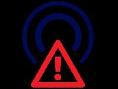 Piktogram, kterı upozorňuje diváky na blížící se přeladění na DVB-T2 (4....