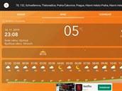 Nová aplikace Weather Radar spředpovědí počasí obsahuje detailní hodinové...
