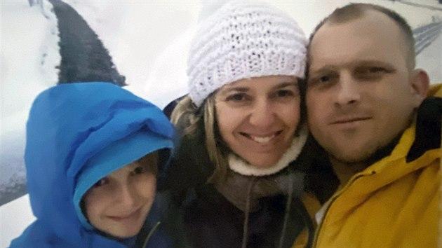 Jarka s manželem a synem Honzíkem