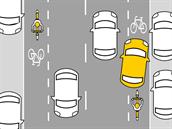 Parkování na pěších zónách nebo cyklotrase