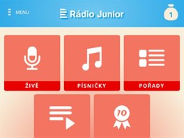 Rádio Junior je nová aplikace od Českého rozhlasu, určená dětem