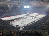 Stadion Schalke 04 v Gelsenkirchenu byl dějištěm tradiční biatlonové exhibice...