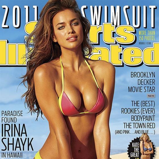 Irina Šaiková jako první Ruska na obálce plavkového vydání časopisu Sports...