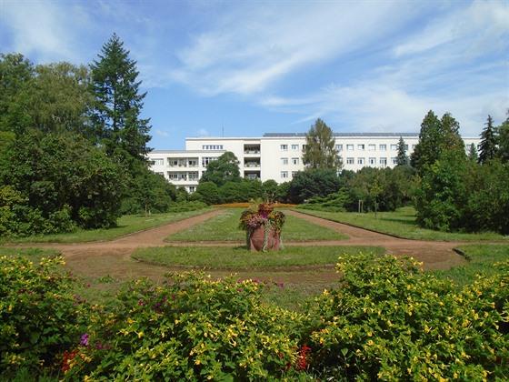 Zahrada nemocnice T.G.M. v Hodoníně, založená v 50. letech 19. století. Je...