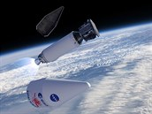 Ilustrace vypuštění sondy Solar Orbiter