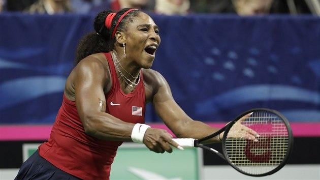 Serena Williamsová v kvalifikaci Fed Cupu.