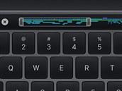 Digitální displej místo funkčních kláves je ve výbavě některých notebooků Apple...