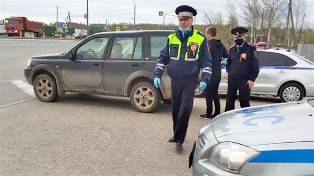 Motorkáři v Rusku