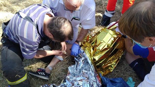 Záchrana zraněné turistky na Božím Daru.